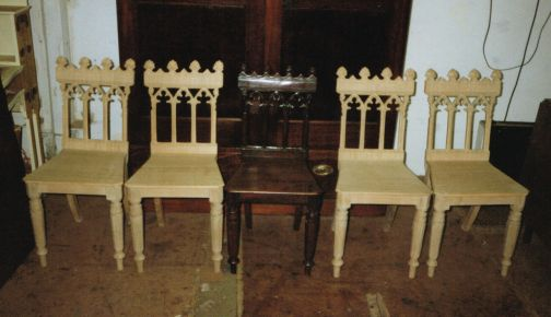 Replica Oak Georgian Hall Chairs