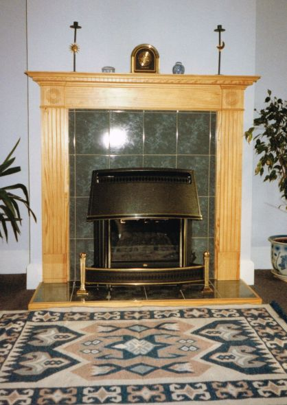 Southern Yellow Pine Fire Surround
