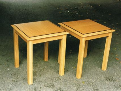 Twin Occasional Tables in English Oak