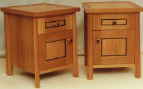 Twin Oak Bedside Cabinets