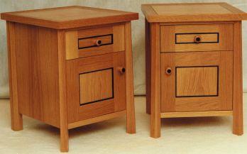 Twin Oak Bedside Cabinets